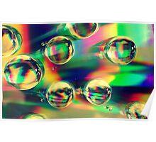Retro Bubbles Poster