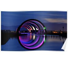 The Falkirk Wheel, top end Poster