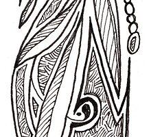 Ex Libris Bookmark by M. H.  Draper