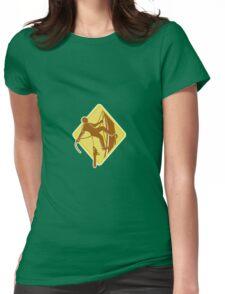 Tree Surgeon Arborist Chainsaw Retro Womens Fitted T-Shirt