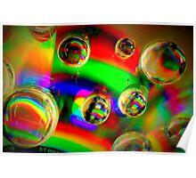Vibrant Bubbles Poster