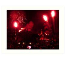 Fireworks at Disneyland Art Print
