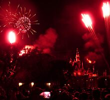 Fireworks at Disneyland by FangFeatures