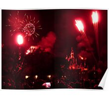 Fireworks at Disneyland Poster