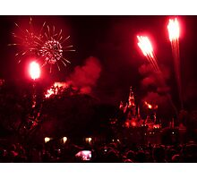 Fireworks at Disneyland Photographic Print