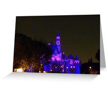 Disneyland Fairytale Castle at Dusk Greeting Card