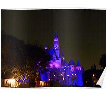 Disneyland Fairytale Castle at Dusk Poster