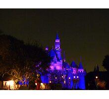 Disneyland Fairytale Castle at Dusk Photographic Print