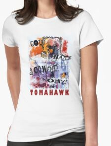 TOMAHAWK - god hates a coward Womens Fitted T-Shirt