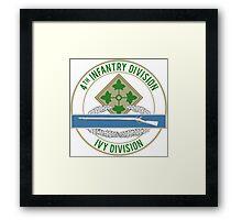 4th Infantry CIB Framed Print