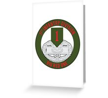 1st Infantry CFMB Greeting Card