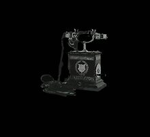 antique phone cutout by Peter Martin