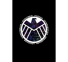 Shield Logo with Kree Symbols Photographic Print