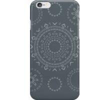 Monogram Pattern (F) in Turbulence iPhone Case/Skin