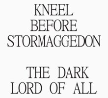 Stormaggedon: The Dark Lord of All by xoMarieHortonxo