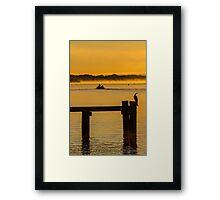 into the sunrise - Mannum SA Framed Print