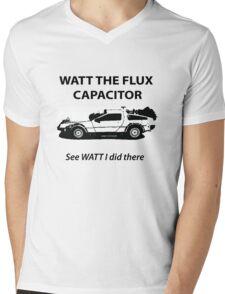 Watt the Flux Mens V-Neck T-Shirt