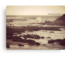 i want to lose myself in these waters Canvas Print