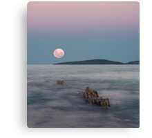 Moon over Montague Canvas Print