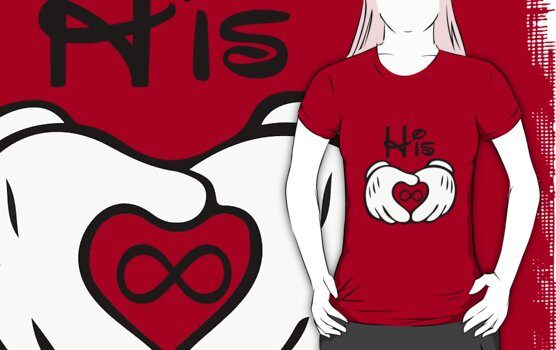Mickey G-l-o-v-e Couple Shirt by taydizzle25