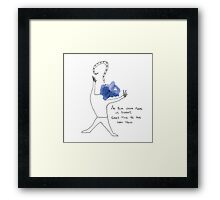 Mr. Blue (a whimsy inkling) Framed Print