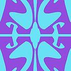 Cyan & Purple Design for iPhone & iPod by GJPart