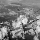 Hurricanes over Weymouth black and white version by Gary Eason
