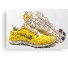 Fruit & Vegetable Running Shoes Metal Print