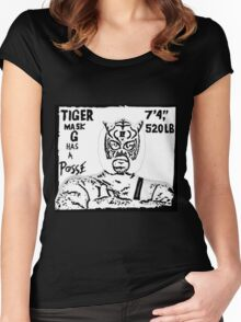 Tiger Mask G Has A Posse Women's Fitted Scoop T-Shirt
