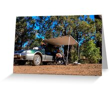 Beer time out camping Greeting Card