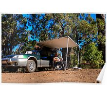Beer time out camping Poster