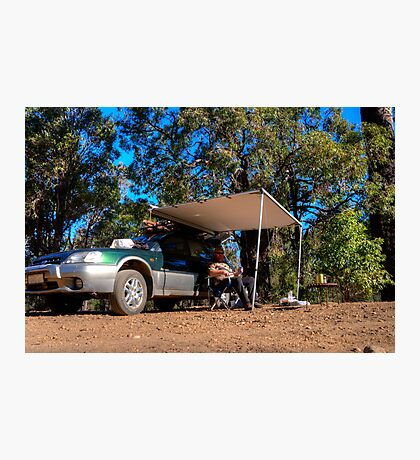 Beer time out camping Photographic Print
