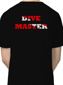 DIVE MASTER WITH SCUBA FLAG Classic T-Shirt