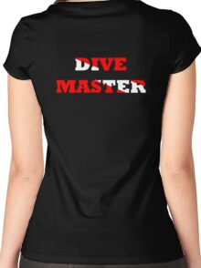 DIVE MASTER WITH SCUBA FLAG Women's Fitted Scoop T-Shirt