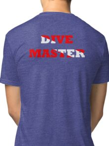 DIVE MASTER WITH SCUBA FLAG Tri-blend T-Shirt