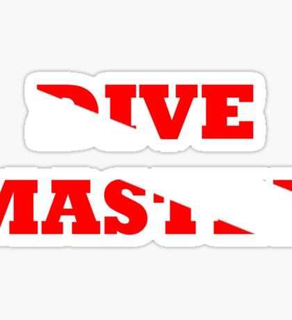 DIVE MASTER WITH SCUBA FLAG Sticker