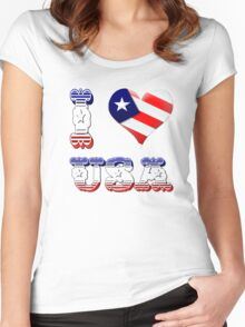 I Love USA Women's Fitted Scoop T-Shirt