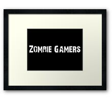 Zombie Gamers Framed Print