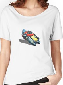 VINTAGE RACING MOTORCYCLE. Women's Relaxed Fit T-Shirt