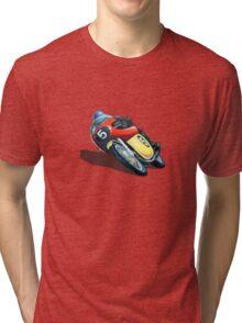 VINTAGE RACING MOTORCYCLE. Tri-blend T-Shirt