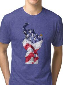 Funny supasize me Statue of Liberty Tri-blend T-Shirt