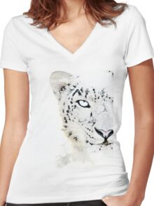 SNOW CAT * LIMITED EDITION * Women's Fitted V-Neck T-Shirt