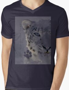 SNOW CAT * LIMITED EDITION * Mens V-Neck T-Shirt