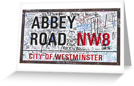 Abbey Road Sign with Graffiti by StreetsofLondon