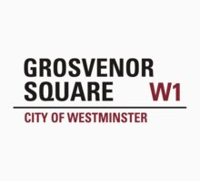 Grosvenor Square Sign by StreetsofLondon