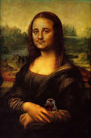 Bill Murray as Mona Lisa by Charles McFarlane