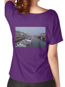 Boats in Lossiemouth Harbour Women's Relaxed Fit T-Shirt
