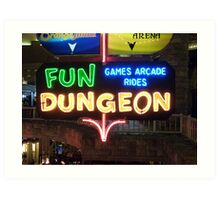 Vegas Fun Dungeon Art Print
