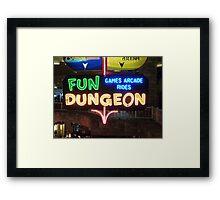 Vegas Fun Dungeon Framed Print