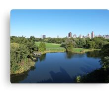 NYC View in Central Park Canvas Print